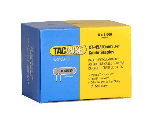 Tacwise 0352 Heftklammern Verzinkt ( CT-45/10mm,5.000 Stück pro Verpackung)