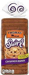 Thomas' Cinnamon Raisin Swirl Bread made with Real Indonesian Cinnamon, 16 oz