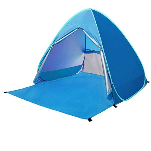 Uitstapje Udstyr, Beach Tent, 3 of 4 Person Beach Tent Plus Strand Paraplu Sun Shelter Cabana Automatische Pop up Sun Shade Draagbare Camping, Kejing Miao