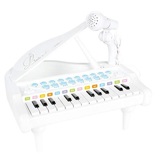 AAFF Klavier Spielzeug Keyboard Für Kinder, Geschenk Spielzeug Piano Mädchen Multifunktions-Mini-Musikinstrument Kleine Kinder Mikrofon Lernspielzeug Berührungsempfindliche,D