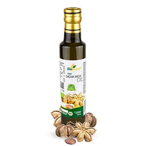 Certificado Orgánico Prensado en Frío Sacha Inchi Aceite 250ml Biopurus