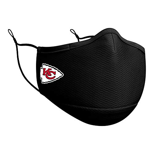 New Era Adult Kansas City Chiefs Football Black OTC Team Color On-Field Adjustable Face Covering