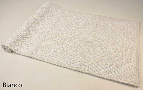 CASA TESSILE Tappeto Cotone ALGHERO Colors - Bianco, 50x110 cm.