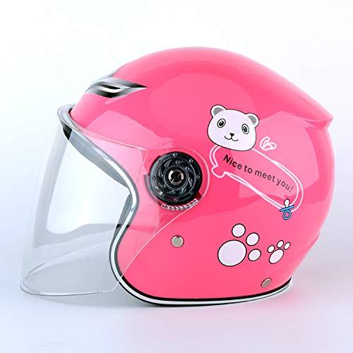 XuBa - Casco de Moto para niños y niñas, cálido, Resistente al Vien