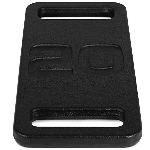 Yes4All 20 lb Ruck Weight – Best Cast Iron Ruck Weight for Walking, Jogging, and Running, Black