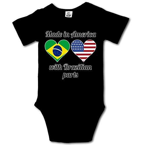 Sunny R Made in America mit Brasilianischen Teilen Newborn Baby Onesies Classic Romper Badesachen 0-3 M