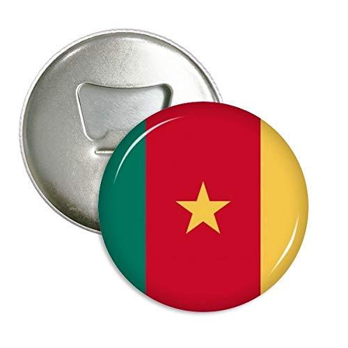 Camerún Nacional Bandera África país redondo abridor de botellas nevera Imán Pins Badge botón regalo 3pcs