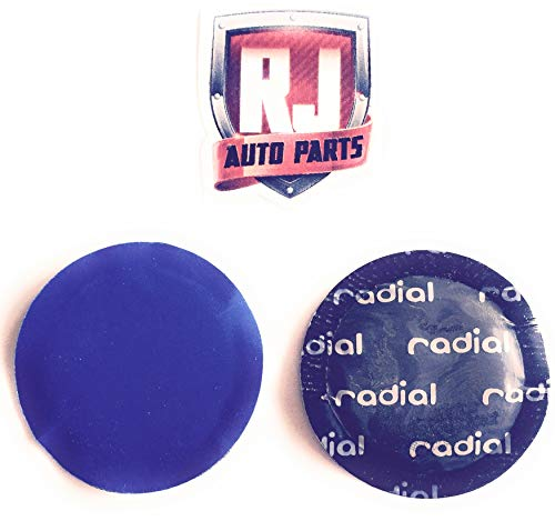 """RJ Auto Parts Radial Tire Patches, Large Size 3 1/8"""" (79 mm) (50) -  RA 2057"""