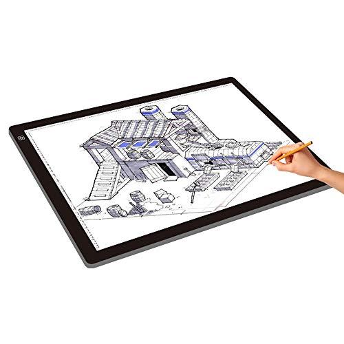 LED Tavoletta Luminosa A2 Dimensioni Tracing Light Box LED con Funzione di luminosità Regolabile con Un Cavo USB per Il Disegno del Tatuaggio (Colore : Black, Size : 40x60x0.8cm)
