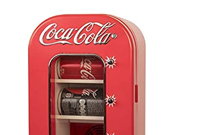 Coca Cola CVF18 10 Can AC/DC Retro Vending Electric Cooler by Koolatron