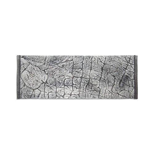 Décor de fond 3D pour aquarium Effet ardoise Gris 100 x 40/97 x 36 cm