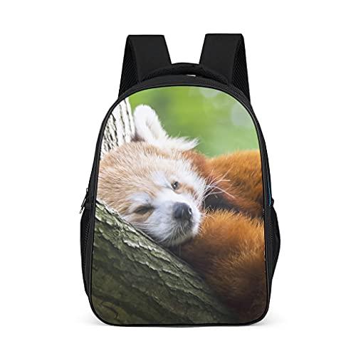 Mochila escolar con diseño de panda rojo animal para adolescentes y niños, elegante para mujeres, bolsa escolar, mochila para niños para viajes escolares, Gris brillante., Talla única,