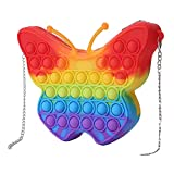 WZMFBH Cute Bag Pops Fidget Toys Reliver Stress Toy Rainbow Push Bubble Simpl Dimmer Antiestrés Juguete Niños Juego sensorial Mochila de Juguete