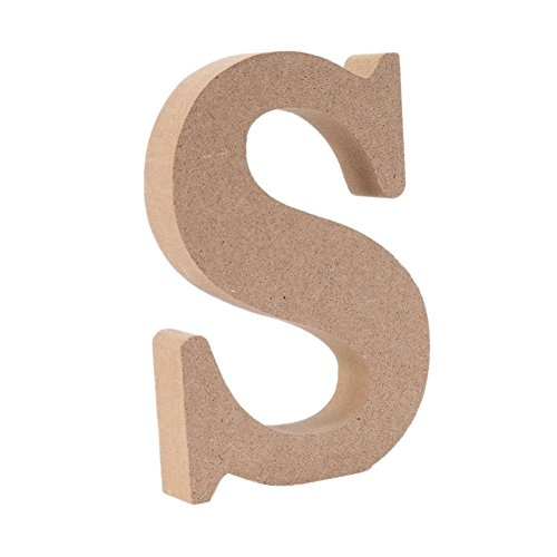 Gspirit Decorativo di Legno Lettere, Originale Colore 26 Alfabeto Legna Lettere per Nome Bambini Compleanno Festa Nozze Casa Decorazione e Camera da Letto, (S)