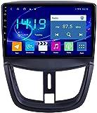 AEBDF Android 9.1 Coche Estéreo Radio de 10.0 Pulgadas Navegación GPS para Peugeot 207 Pantalla de Pantalla táctil Sat Nav Car Media Player,4Core WiFi+4G 2+32G