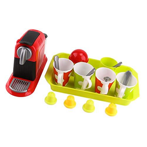 chiwanji 21pcs Deluxe Coffee Set Elettrodomestici Pretend Toys for Kids