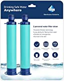 Membrane Solutions Straw Water Filter Survival Filtration Portable...