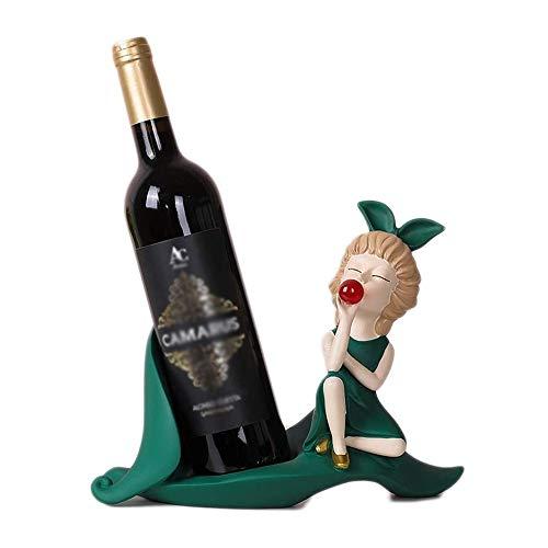 ZHUANYIYI Estante de Vino, Creativo Moderno Rojo Estante de Vino decoración casera Sala de Estar casero decoración de gabinete de Vino, para Uso doméstico/Oficina/Bar. (Color : UN)