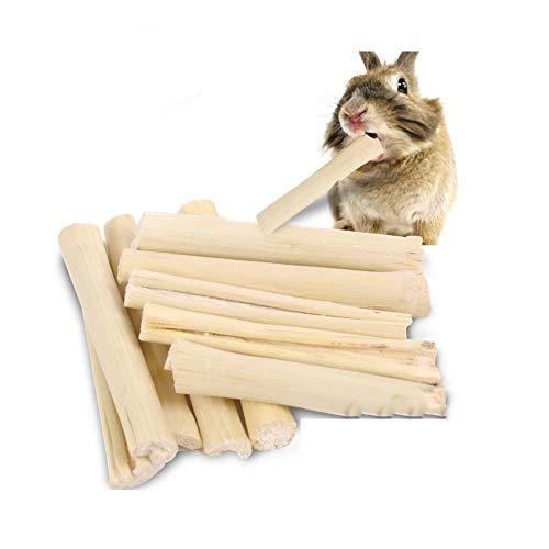 EPRHY Pequeñas mascotas dulces bambú natural juguetes para masticar 200 g (7oz) pequeños animales aperitivos para conejos, cobayas, chinchilla, ardilla, conejos, loro, hámster