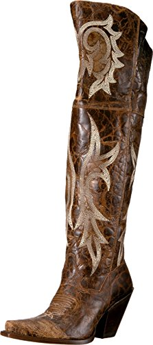 Dan Post Boots Women's JILTED Western Boot, Brown, 9.5 M US
