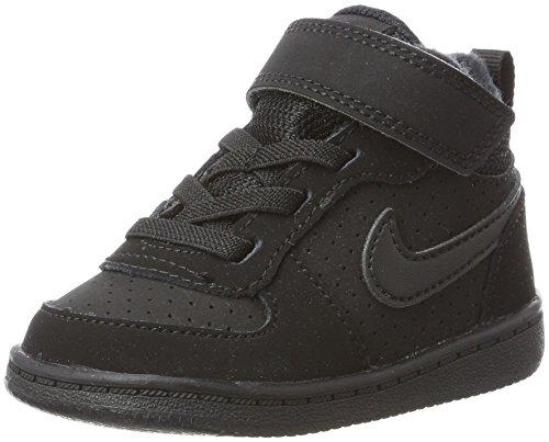 Nike Nike Unisex Baby Court Borough Mid (TD) Hausschuhe, Schwarz (Black/Black 001), 21 EU
