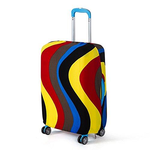 Anladia Elastisch Reise Kofferhülle Kofferschutzhülle Kofferüberzug Schutzhülle Kofferhülle Kofferbezug Koffer-Abdeckungen L Bunte Welle