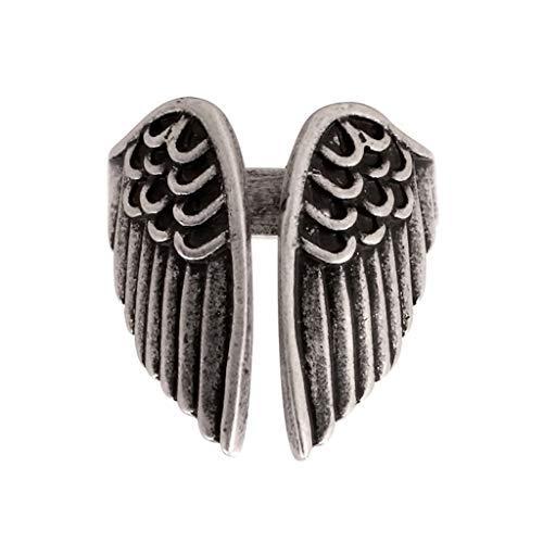 Anello da donna in argento con decorazione a forma di ali