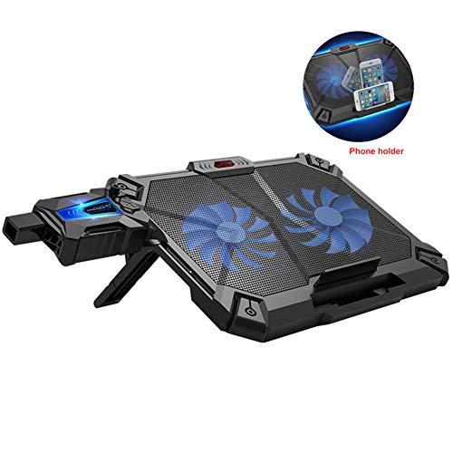 QHAI Laptop Kühler, Laptop Lüfter Kühler Notebook, Temperatur-Anzeige Schneller Heatsink Einstellbare Geschwindigkeit