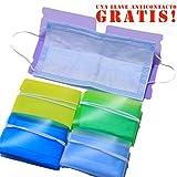 Anfipo Pack 6 Estuches de Colores para almacenar mascarilla desechable- Gratis una Llave anticontacto para Abrir Puertas y Pulsar Botones sin Contacto- Porta mascarillas para Evitar la contaminación