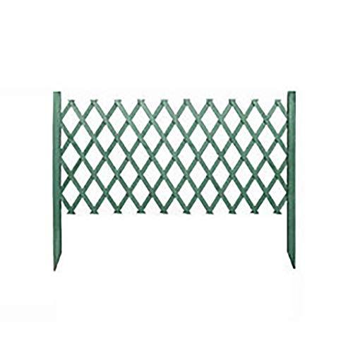QBZS-YJ hek houten hek poort voor thuis tuin klim Trellis partitie decoratieve achtertuin hek partitie bloem standaard (groen)