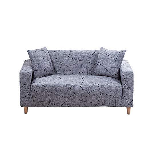Patrón de Hojas Funda de sofá Fundas elásticas Funda de sofá Todo Incluido para sofá en Forma de L Love Seat A25 2 plazas