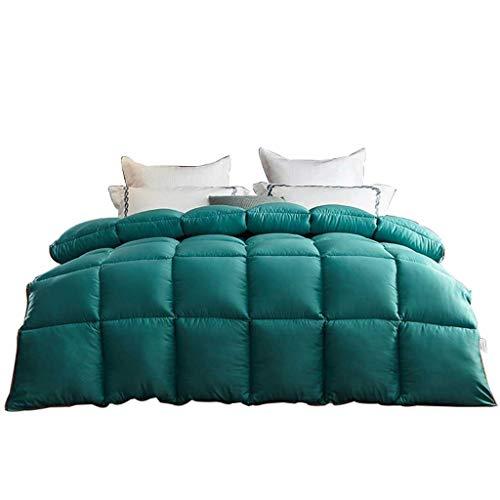 JIAJULL Moderne Feste grüne Farbe Quilt, Wende Winter Baumwolle Bettdecke, 150 * 200CM 2kg