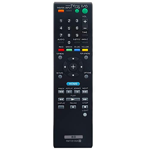 RMT-B105A RMTB105A Remote Control Replacement for Sony Blu-ray Disc DVD Player BDP-BX2 BDP-BX37 BDP-BX57 BDP-S270 BDP-S370 BDP-S470 BDP-S570 BDP-S2000ES BDP-S300 BDP-S301 BDP-S500 BDP-S360 BDP-S560