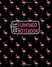 Cute Flamingo Notebook: Pink Flamingo Journal, Sketchbook or Diary 8.5 x 11 With Lined Pages