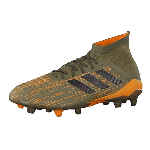 adidas adidas Herren Predator 18.1 Fg Fußballschuhe, Grün Trace Olive Core Black Bright Orange, 39 1/3 EU