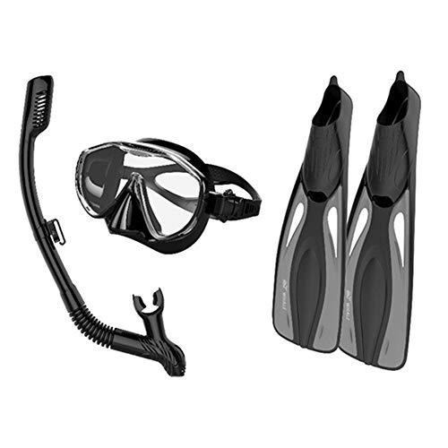 Equipo de Buceo Snorkeling Sambo Gafas de Buceo + Snorkel Frontal Completamente seco + Aletas largas Aletas Equipo de buceoFlippers