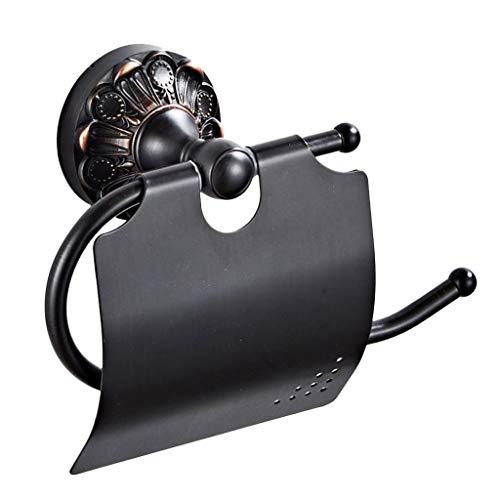 Fenteer Accesorios de Baño Antiguos de Latón Soporte para Papel Higiénico Soporte para Rollo de Papel Organizador de Papel para Almacenamiento, 185 X 126 X 73