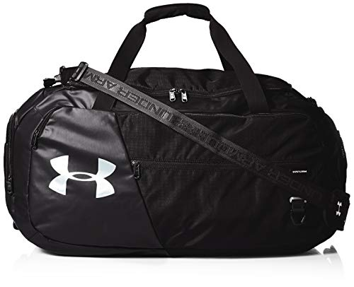 Under Armour Adult Undeniable Duffle 4.0 Gym Bag , Black (001)/Silver , Medium