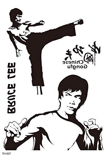 Bruce Lee Martial Art Big 8.25' tempoary Tattoo Body Art Tattoo Art Cool Wrist Tattoos