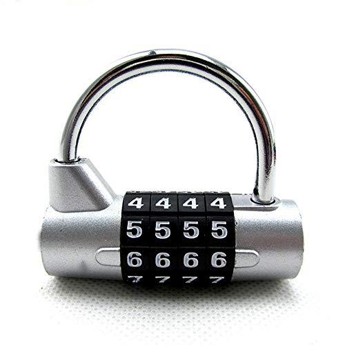 GUBO Maleta de Equipaje mecánico en Forma de U código de Bloqueo de Gimnasio cajón Equipaje 4 candado de código de dígitos