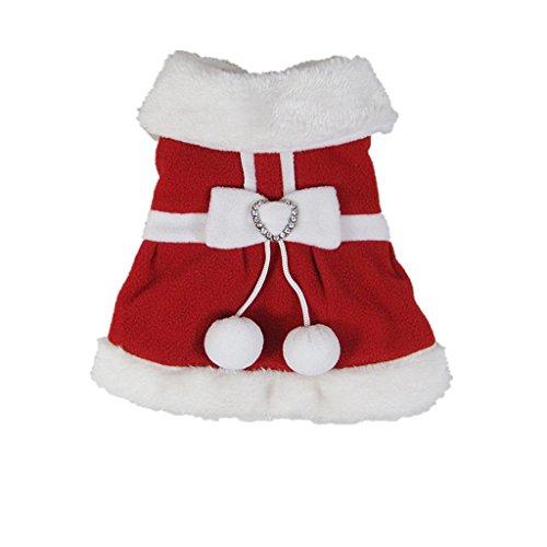 Cosplay Costumi Abiti Cappotto Vestiti da Babbo Natale per Cane Animale Natale Partito Decorazione - S