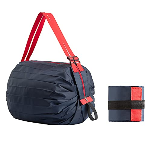 Travel Portable Reusable Foldable Shopping Bag Large Thickened Storage Bags Grocery Tear-Resistant Waterproof Outdoor Camping Style1-40x40cm