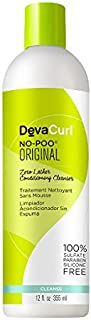 DevaCurl No-Poo Zero Lather Conditioning Cleanser for Unisex - 12 oz., 385.55 Grams