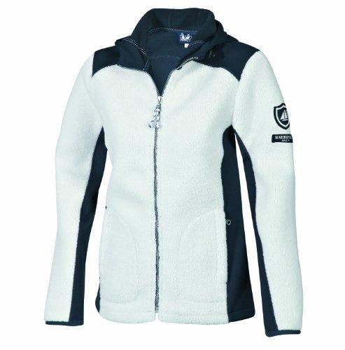 Marinepool Damen Jacke Yupic Fleece Jacket Women, White/Navy, XS, 5000454-001/500-160