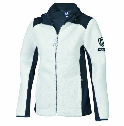 Marinepool Damen Jacke Yupic Fleece Jacket Women, White/Navy, M, 5000454-001/500-180