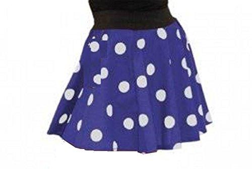 Meisjes Blauw met Witte Vlekken Polka Dot Circulaire Rok leeftijd 5 tot 8 jaar