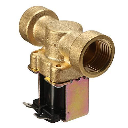 YLHXYPP Seguridad. Negocio Válvula de solenoide galvánica de latón Normalmente Cerrado de 24V 2V 2VERA para Agua aérea