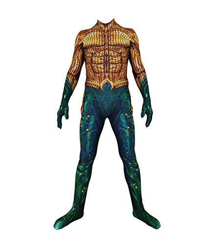 Disfraz de Cosplay de Arthur Curry Aqua-Man Unisex Adultos niños Mono Mono Disfraces de Halloween Cosplay