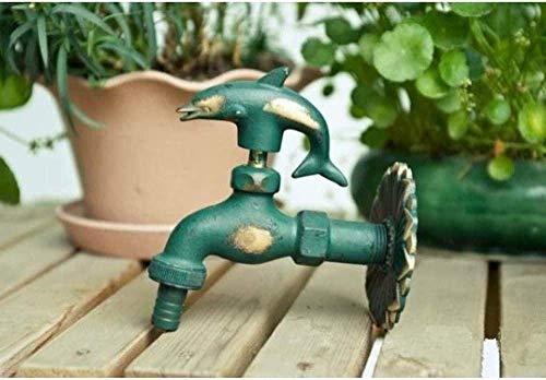 Robinet de jardin jardin forme animale Bibcock en laiton antique dauphin pour laver vadrouille jardin arrosage robinet Animal