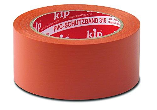 Kip 315 PVC-Schutzband-Profi-Qualität-glatt , Farbe: orange - 50 mm x 33 m - 6er Pack